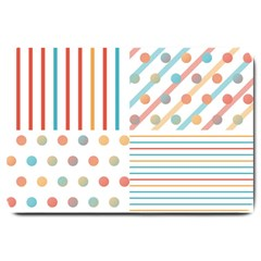 Simple Saturated Pattern Large Doormat  by linceazul