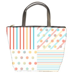 Simple Saturated Pattern Bucket Bags by linceazul