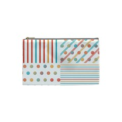 Simple Saturated Pattern Cosmetic Bag (small)  by linceazul