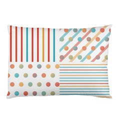 Simple Saturated Pattern Pillow Case (two Sides) by linceazul