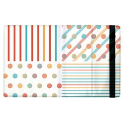 Simple Saturated Pattern Apple Ipad 2 Flip Case by linceazul