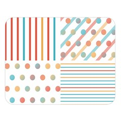 Simple Saturated Pattern Double Sided Flano Blanket (large)  by linceazul