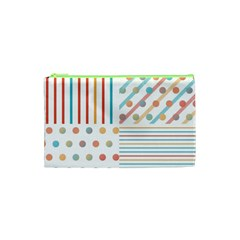 Simple Saturated Pattern Cosmetic Bag (xs) by linceazul