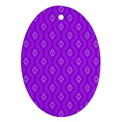 Decorative Seamless Pattern  Ornament (oval) by TastefulDesigns