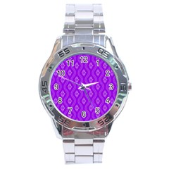 Decorative Seamless Pattern  Stainless Steel Analogue Watch by TastefulDesigns