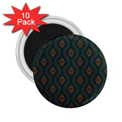 Ornamental Pattern Background 2 25  Magnets (10 Pack)