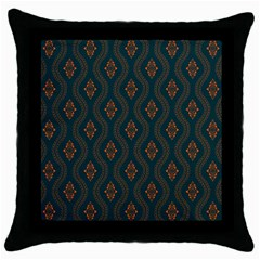 Ornamental Pattern Background Throw Pillow Case (black)