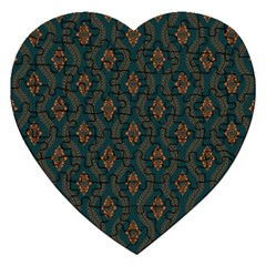 Ornamental Pattern Background Jigsaw Puzzle (heart)