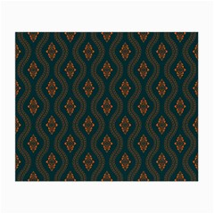 Ornamental Pattern Background Small Glasses Cloth