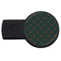 Ornamental Pattern Background Usb Flash Drive Round (4 Gb) by TastefulDesigns