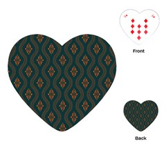 Ornamental Pattern Background Playing Cards (heart)