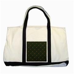 Ornamental Pattern Background Two Tone Tote Bag