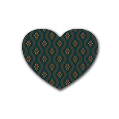 Ornamental Pattern Background Heart Coaster (4 Pack)