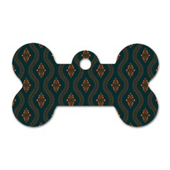 Ornamental Pattern Background Dog Tag Bone (two Sides)