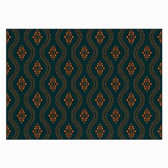 Ornamental Pattern Background Large Glasses Cloth (2 Side)