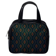 Ornamental Pattern Background Classic Handbags (one Side)