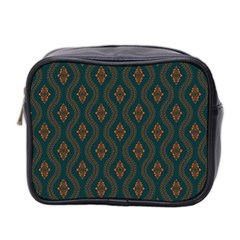 Ornamental Pattern Background Mini Toiletries Bag 2 Side