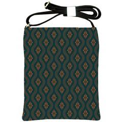 Ornamental Pattern Background Shoulder Sling Bags