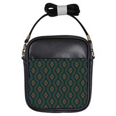 Ornamental Pattern Background Girls Sling Bags