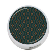 Ornamental Pattern Background 4 Port Usb Hub (two Sides)