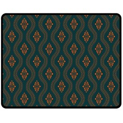 Ornamental Pattern Background Fleece Blanket (medium)