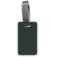 Ornamental Pattern Background Luggage Tags (one Side)  by TastefulDesigns