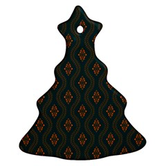 Ornamental Pattern Background Christmas Tree Ornament (two Sides)
