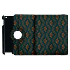 Ornamental Pattern Background Apple Ipad 3/4 Flip 360 Case