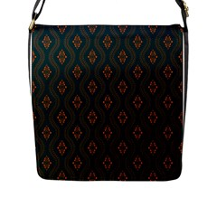 Ornamental Pattern Background Flap Messenger Bag (l)