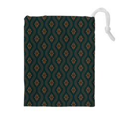Ornamental Pattern Background Drawstring Pouches (extra Large)