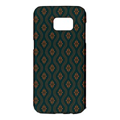 Ornamental Pattern Background Samsung Galaxy S7 Edge Hardshell Case
