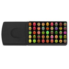 Beetles Insects Bugs Rectangular Usb Flash Drive by BangZart