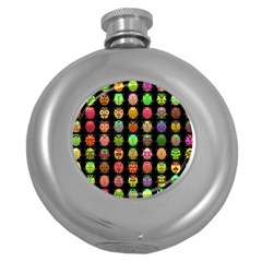 Beetles Insects Bugs Round Hip Flask (5 Oz) by BangZart