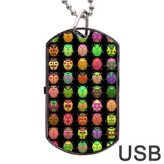 Beetles Insects Bugs Dog Tag Usb Flash (two Sides)
