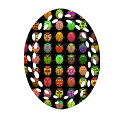 Beetles Insects Bugs Ornament (oval Filigree) by BangZart