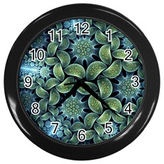 Blue Lotus Wall Clocks (black) by BangZart