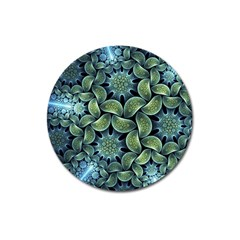 Blue Lotus Magnet 3  (round) by BangZart