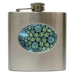 Blue Lotus Hip Flask (6 Oz) by BangZart