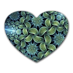 Blue Lotus Heart Mousepads by BangZart