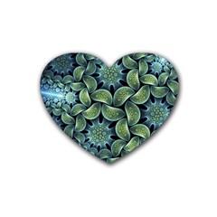 Blue Lotus Rubber Coaster (heart)