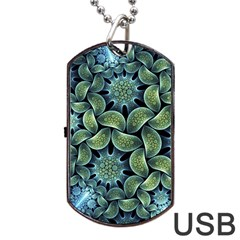 Blue Lotus Dog Tag Usb Flash (two Sides) by BangZart