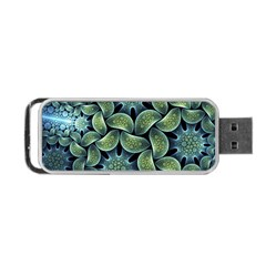 Blue Lotus Portable Usb Flash (two Sides) by BangZart