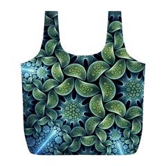 Blue Lotus Full Print Recycle Bags (l)