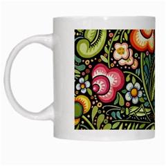 Bohemia Floral Pattern White Mugs by BangZart