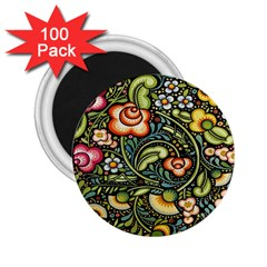 Bohemia Floral Pattern 2 25  Magnets (100 Pack)  by BangZart