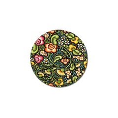 Bohemia Floral Pattern Golf Ball Marker by BangZart