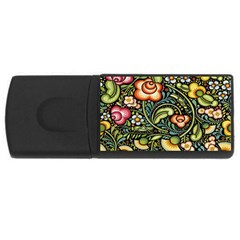 Bohemia Floral Pattern Rectangular Usb Flash Drive