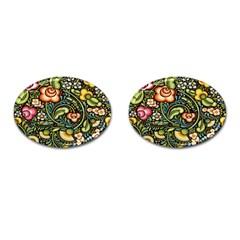 Bohemia Floral Pattern Cufflinks (oval)