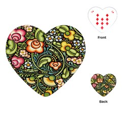 Bohemia Floral Pattern Playing Cards (heart)