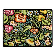 Bohemia Floral Pattern Fleece Blanket (small) by BangZart